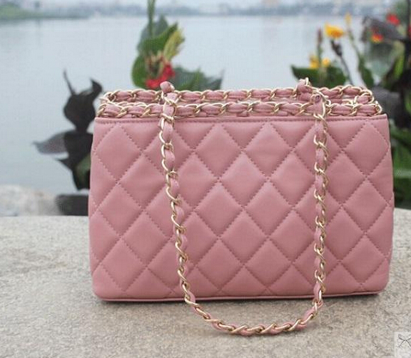 2015 women's handbag sheepskin chain bag fashion plaid one shoulder small genuine leather - TKK shoe shop store