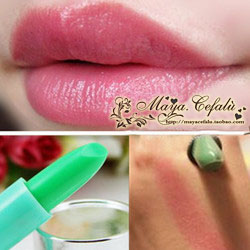 Heterochrosis fruity lipstick lip balm superacids waterproof rose