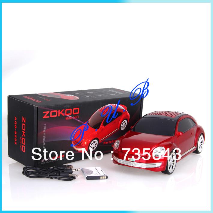 Truck Mini Speaker New Car Shaped Music MP3 USB r High Quality 3D stereo sound Mini Speaker,Mix Color 20pcs free shipping(China (Mainland))