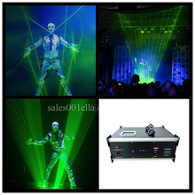 Hot sale1w Green Laser Stage Light Laserman Show Equipment Laser Man font b Projector b font