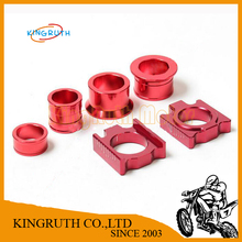 CNC Aluminum Rear Chain Adjuster Axle blocks with wheel busher Spacer sleeve for CR125 250R CRF 250R 250X 450R 450X Dirt bike(China (Mainland))