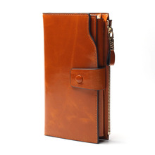2016 New Design Fashion Multifunctional Purse Genuine Leather Wallet Women Long Style Cowhide Purse Wholesale And Retail Bag(China (Mainland))