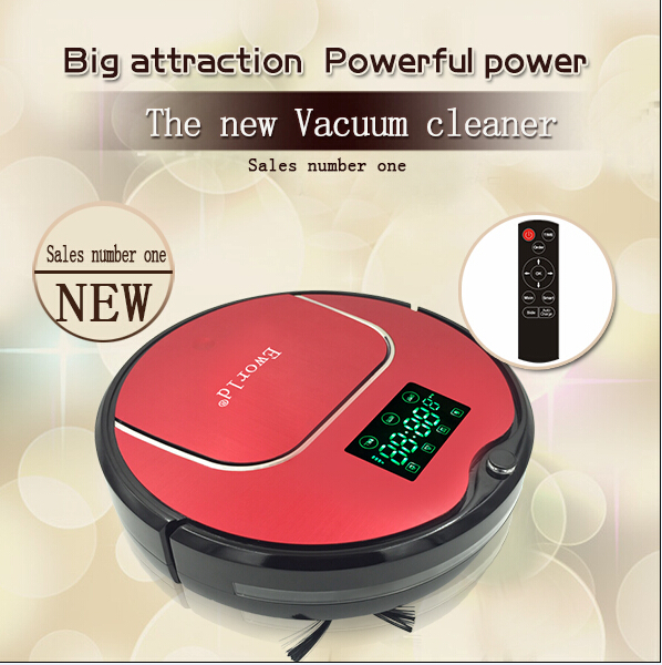 Eworld M883 Robot Vacuum Cleaner Household Vacuum Cleaner With Remote Controller Cleaning Brush and Senser For Clean Floor(China (Mainland))