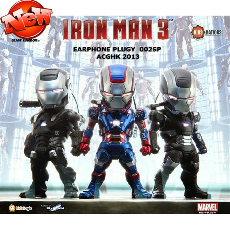 Marvel Movie Iron Man 3Q Version Robot Brinquedos PVC Action Figures Juguetes Superhero Iron Man Model Classic Kids Toys 3Pc/Set(China (Mainland))