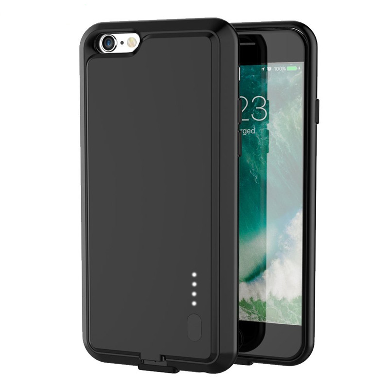 Fashion Ultra Slim Battery Case For iPhone 6 6s 6S Plus 6 Plus Build-in Magnetic Metal Power Bank Charger Extended Battery Case(China (Mainland))