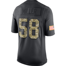 Men's Von Miller #58 embroidery Logos Anthracite 2016 Salute to Service Jersey Black Camo Free Shipping(China (Mainland))