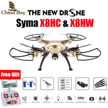SYMA X8HW & X8HC FPV RC Drone 6-Axis Professional Quadcopter Altitude Hold Headless Mode With 2MP Or WiFi Camera RC Helicopter(China (Mainland))