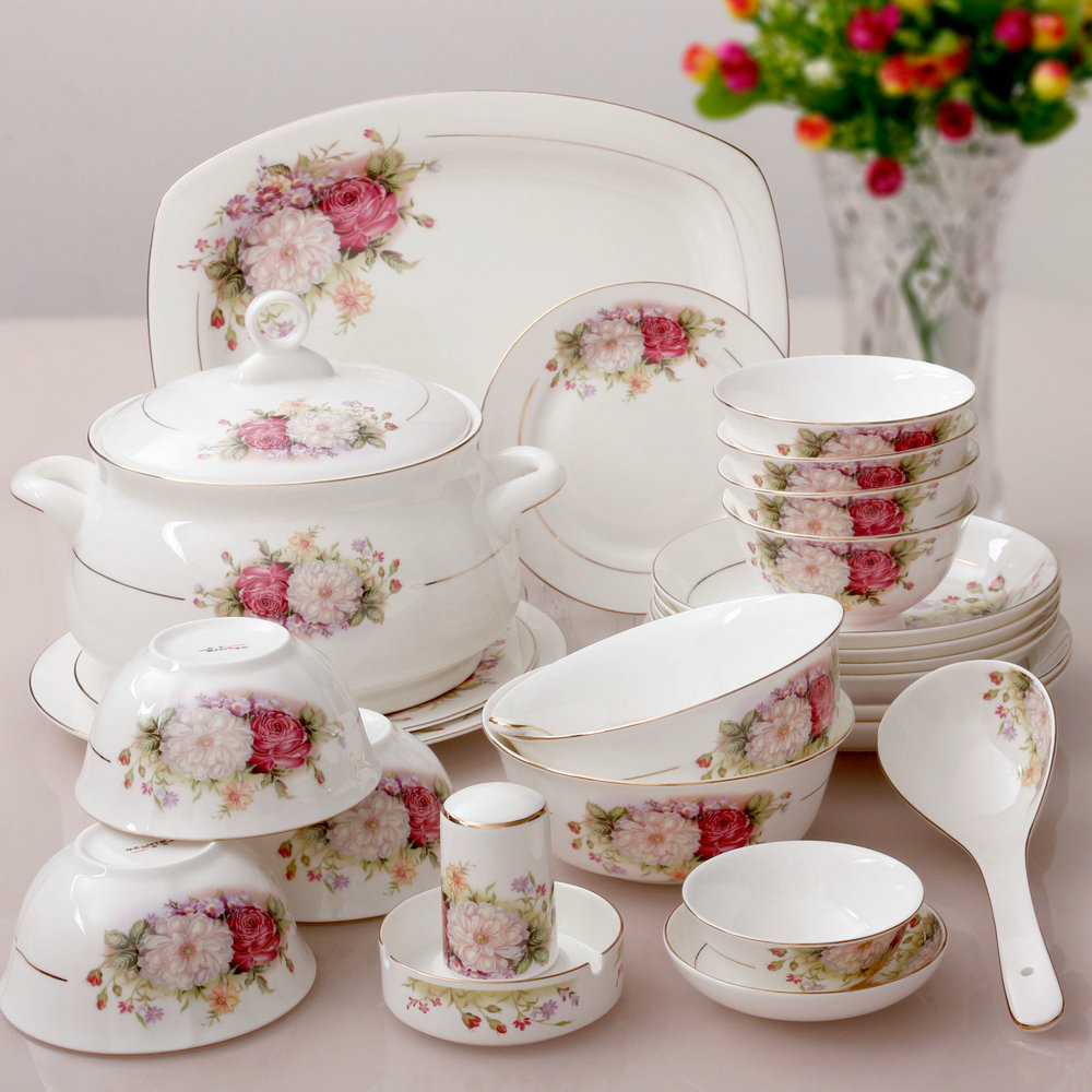 29 kupper bone china dinnerware set bone china fashion rich tall bowls