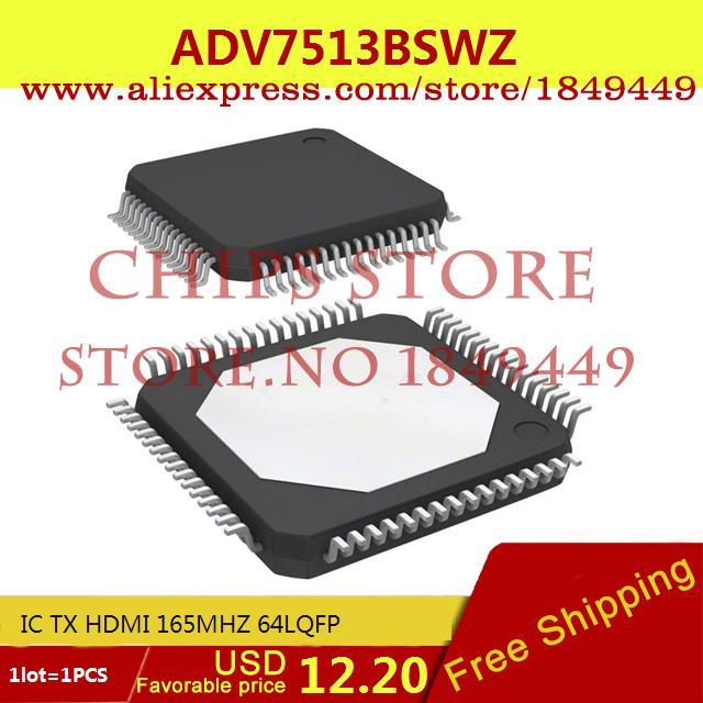 Free Shipping IC Integrated Circuit ADV7513BSWZ IC TX HDMI 165MHZ 64LQFP 7513 ADV7513 1pcs(China (Mainland))