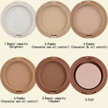5 Colors Set Shimmer Kabuki Mineral Makeup Bare Skin Foundation Facial Powder(China (Mainland))