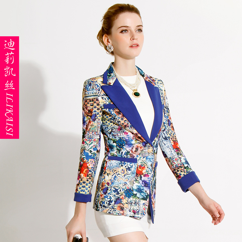 Womens Printed Blazer - Trendy Clothes