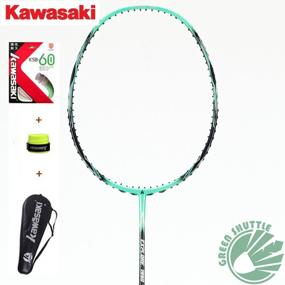 100% Original Kawasaki 1770 1880 1990 Full Carbon Badminton Racket Raquette Badminton With 3 Gift(China (Mainland))