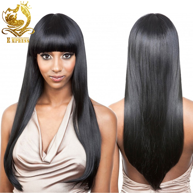 Brazilian Hair Lace Wig Full Lace Hair Wigs With Bangs