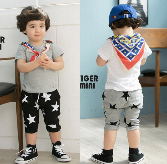 Free Shipping! Cheap New children trousers Boy Girl Summer Five Star Pants Birthday Gift kid clothes Wholesale And Retail(China (Mainland))