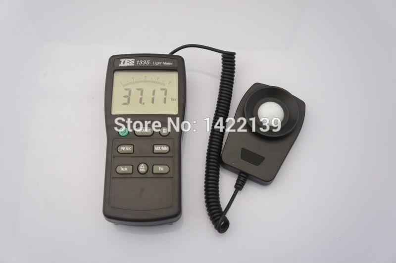 Фотография New TES TES-1335 Digital Light Meter - Ranging 0 to 400,000 Lux