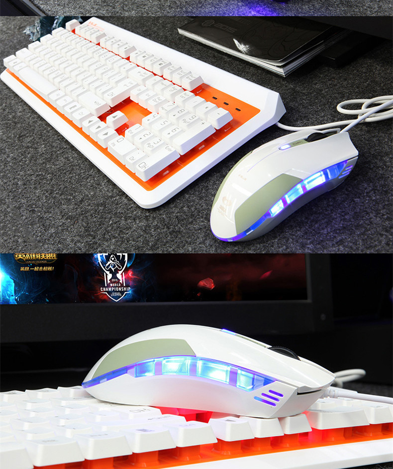 Original E-3LUE peripherals Cobra gaming mouse and keyboard combo backlight mouse suspension key