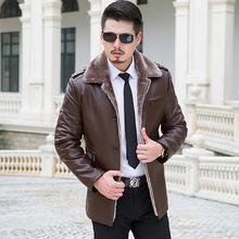 New 2016 Autumn Winter Slim Classical Leather Jacket Men High-grade Fabric Unique Design Jaqueta De Couro Masculina Biker Jacket(China (Mainland))