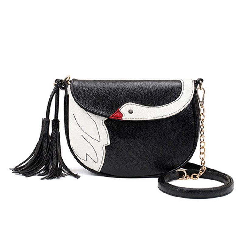 2016 Newest Goose Women Tassel Bag Crossbody Bags for Women Handbags Fashion Pu Leather Small Messenger Bag sac a main femme(China (Mainland))