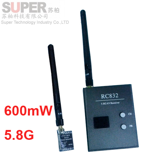 600mW FPV transmitter receiver 32ch 5.8G Wireless transmitter receiver,5.8G CAM FPV transceiver model air plane camera receiver<br><br>Aliexpress