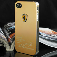 Luxury Metal Back Cover Shell Case For iPhone 5 5S Sport Car Logo Mobile Phone Skin Case for iPhone5 s Cases for i Phone 5 5s(China (Mainland))