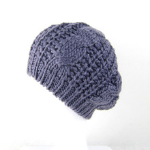 2015 New Fashion Women's Lady Beret Braided Baggy Beanie Crochet Warm Winter Hat Ski Cap Wool Knitted Wholesale Many Color ZL146(China (Mainland))