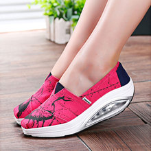 Slimming Graffiti Women Canvas Shoes Fashion Casual Shoes Women Fitness Lady Swing Shoes Summer Factory Whose Top Quality Goose(China (Mainland))