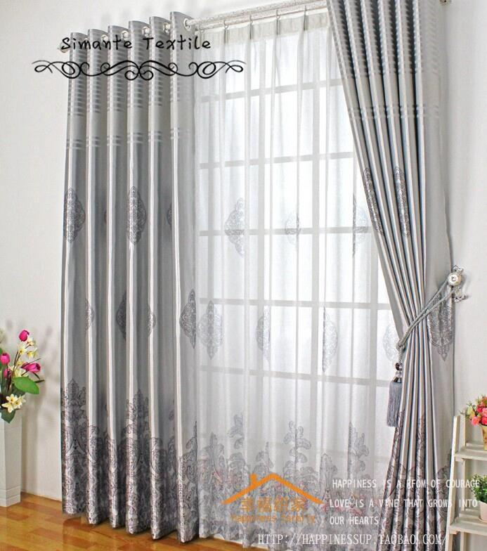 Blackout window curtain sun-shading fabric full shade curtain fabric for living room window(China (Mainland))