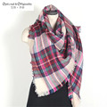 Winter Blanket Oversized Tartan Scarf Wrap Shawl Plaid Cozy Checked Pashmina Women Hot for birthday gift more styles