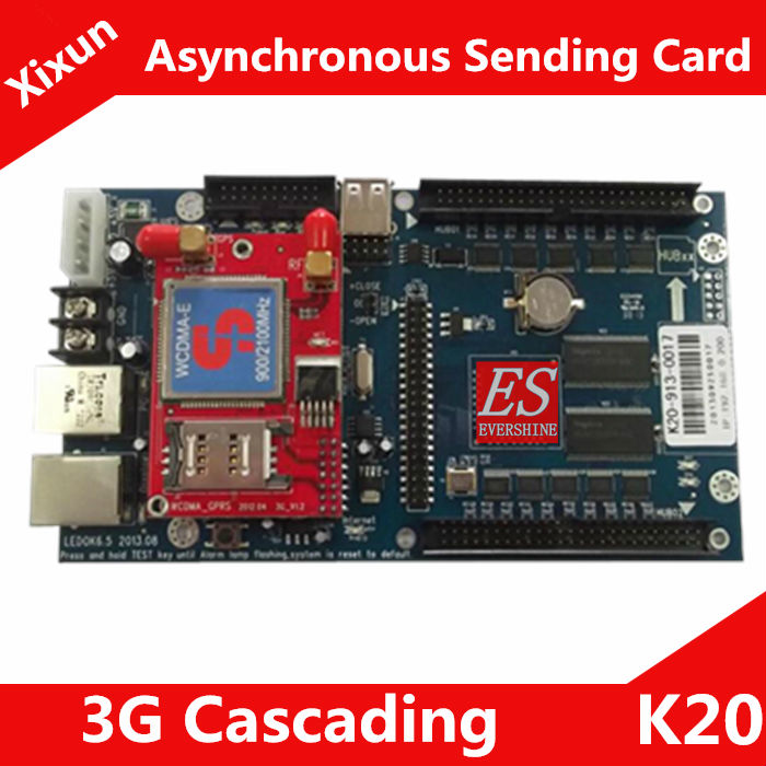 2014 NEW! K20 3G Cascade Sending Card RGB LED Screen Module / Control Range 640x480 pixels Support P10 1200pcs Modules(China (Mainland))