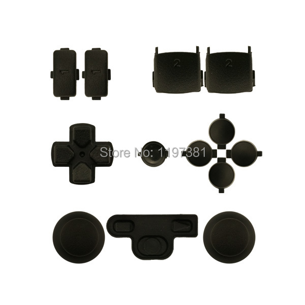 New Arrival Black Full buttons mod kit For Sony Play station 3 ps3 wireless controller joystick dpad start and back buttons(China (Mainland))