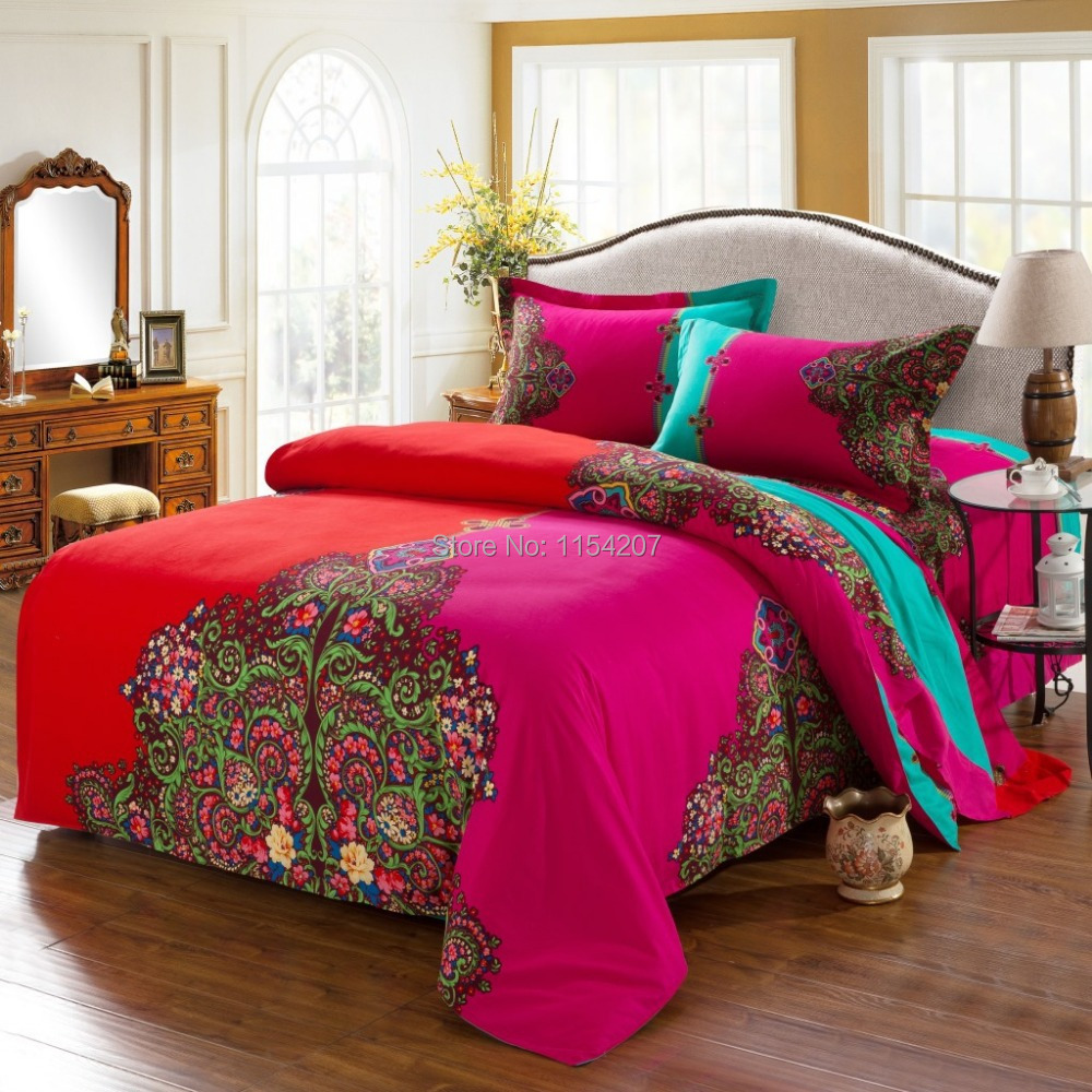 Funda-Nordica-Bohemian-Bedding-Set-Boho-Style-Bedclothes-Moroccan-Bed ...
