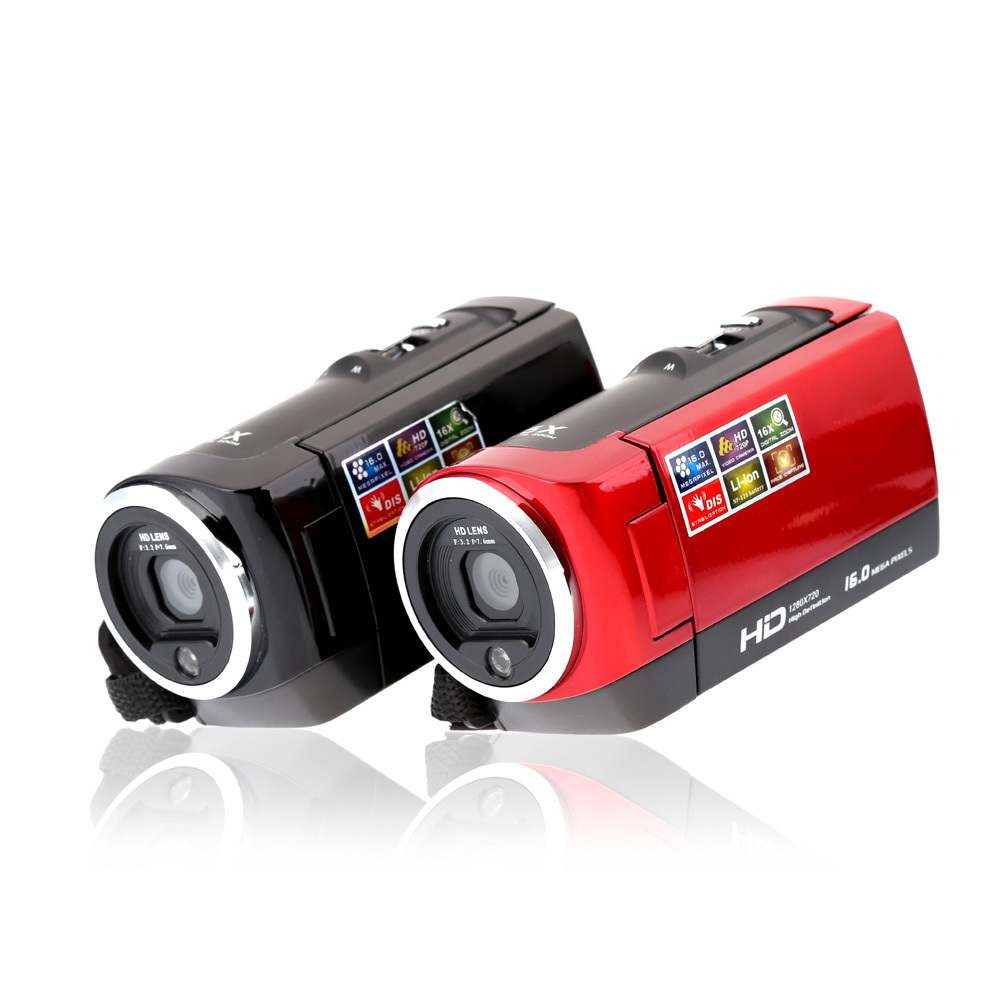HDV-107 High quality Digital Video Camcorder Camera HD 720P 16MP DVR 2.7inch TFT LCD Screen 16x ZOOM camera(China (Mainland))