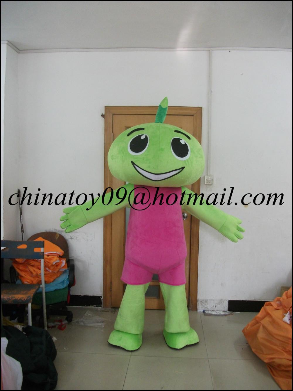 Adult Green Pasture Ppirit Mascot Costume Adult Size Cartoon Character Mascotte Mascota Outfit Suit(China (Mainland))