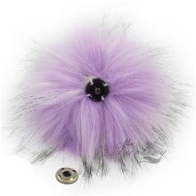 12 pçs do falso pele de guaxinim 11 cm fofo pom pom bola com botão de imprensa para chapéu beanie acessórios feminino chaveiro saco de mão encantos(China)