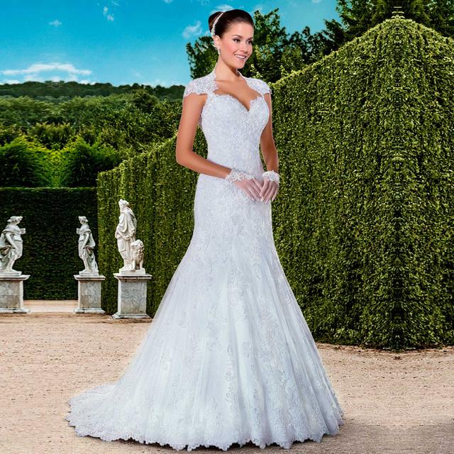 Robe de novia 2016 élégante robe de mariée Sexy sirène dentelle ...