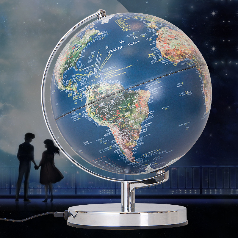 Globe map table lamp cm antique globe table lamp home office globe map table lamp aliexpress buy cm led globe table lamp geography gumiabroncs Images