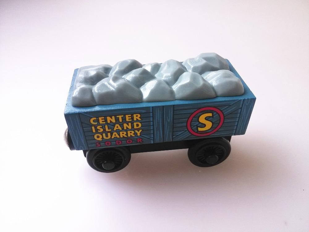 RARE new style wooden Thomas and friend train Chinldren child kids plastic toys stone truck(China (Mainland))