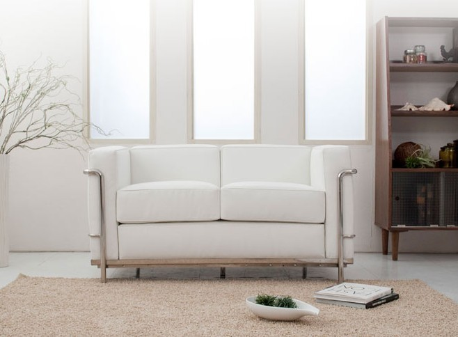 U-BEST high quality LC2 2-seater sofa ,leisure Le Corbusier 2 seater sofa, leather LC2 loveseat,living room loveseat sofa(China (Mainland))