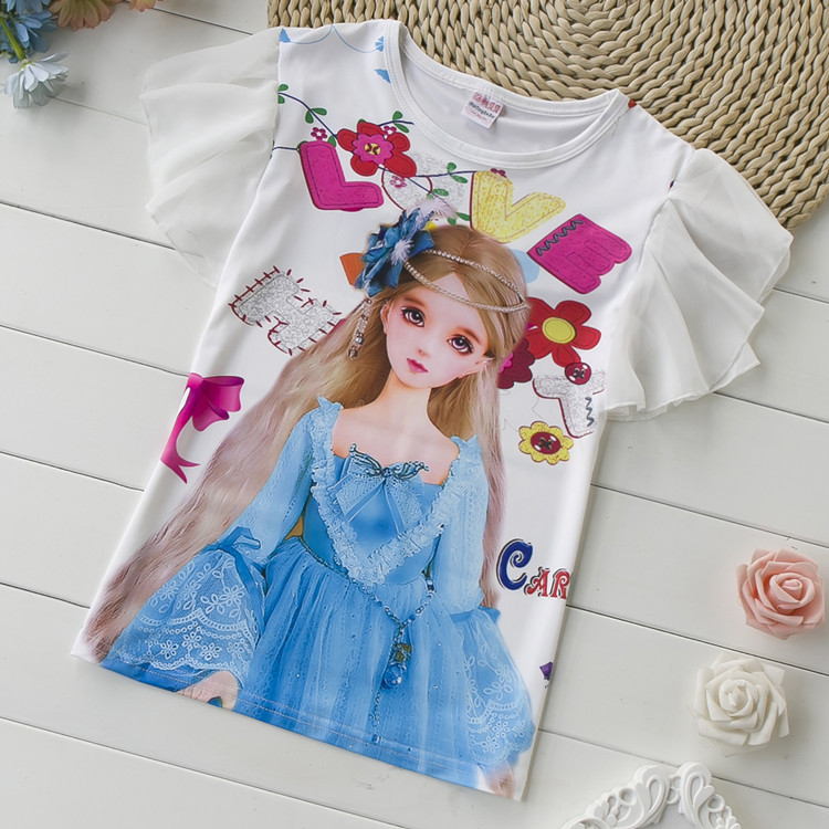 OneToo 2-10 years baby Girl t-shirt big Girls tees shirts children blouse big sale super quality 100% cotton kids summer clothes(China (Mainland))