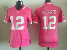 Women ladies all stitched PINK love Green Bay Packers Aaron Rodgers,eddie lacy,Clay Matthews, #87(China (Mainland))