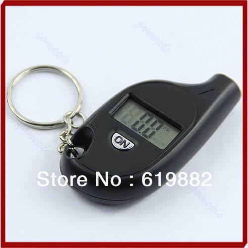 Гаджет  A25 Wholesale 1pc Mini Keychain LCD Digital Car Tire Tyre Air Pressure Gauge Auto Motorcycle Test Tool None Автомобили и Мотоциклы