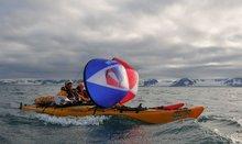 KAYAK SAIL Paddle - Go Sailing in your Kayak or Canoe -stroke Wind-PADDLE -Rowing Boats Wind sail #1008(China (Mainland))