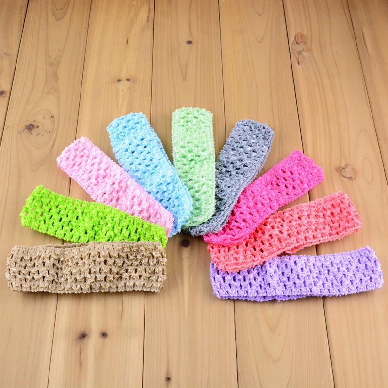 38color Freeshipping Wholesale 730pcs/lot 1.5 inch Hi-Quality Crochet headband waffle headband for baby Hair Accessories FD099(China (Mainland))