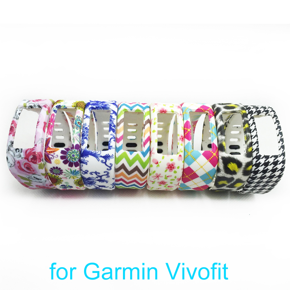 8pcs Replacement Wristband Strap Bracelet Rubber for Garmin Vivofit Smart Wristband Bracelet No Tracker