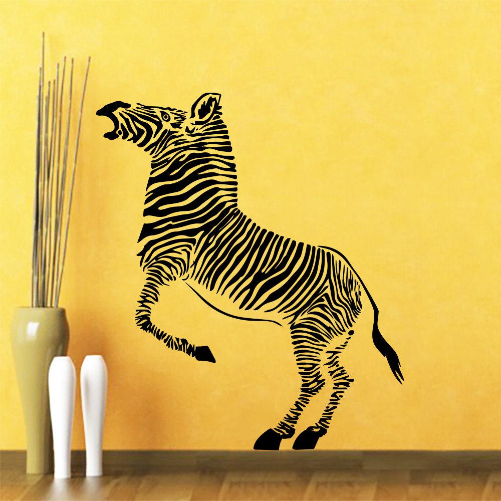 Z bre peintures murales promotion achetez des z bre for Deco murale zebre