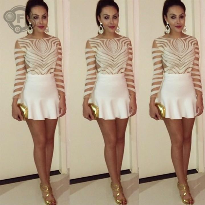 New Fashion Ladies' Elegant blouse women shirt long sleeve O neck casual slim brand designer tops sv16(China (Mainland))