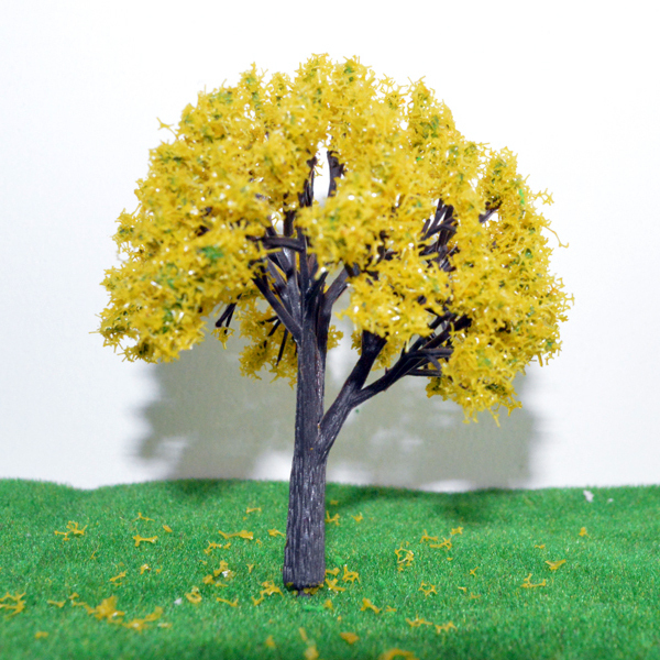 Гаджет  Railway model 60mm plastic YELLOW bitch tree for ho scale model train accessories sandbox building model None Строительство и Недвижимость