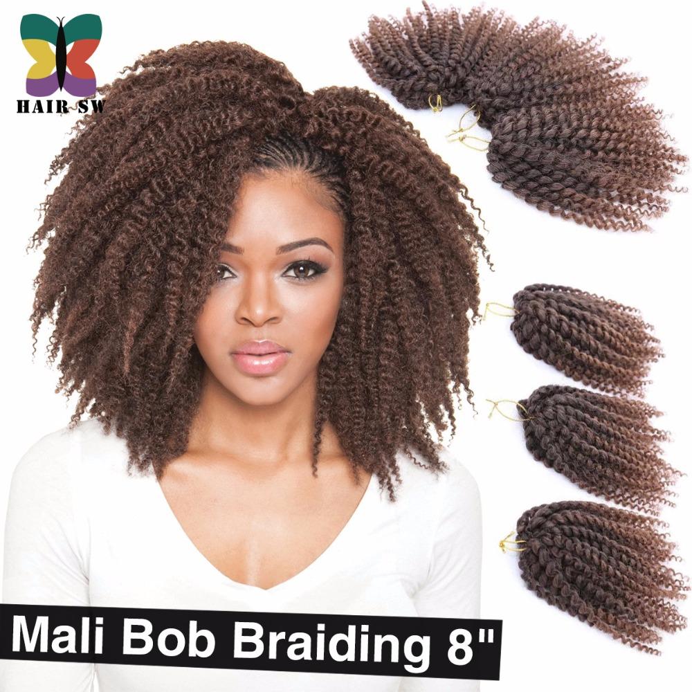 curls Mali Bob Twist Crochet braids short hair Synthetic Kanekalon ...