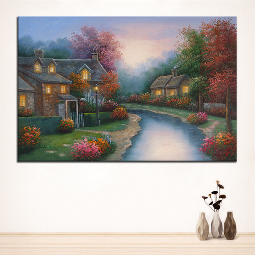 Extra Large Wall Painting Of Mangrove Forest Home Office