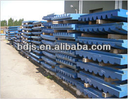 metso fixed jaw plates of metso c80 jaw crusher spare parts mining machinery(China (Mainland))